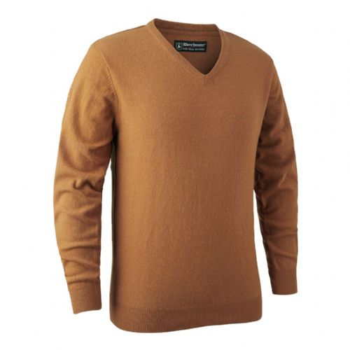 Deerhunter Brighton  V Neck Pullover: Yellow Mix